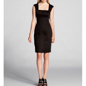 Calvin Klein Empire Waist Pleated Cap Sleeve Dress